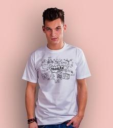Travel t-shirt męski biały s