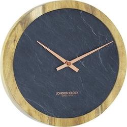 Zegar carbon okrągły mały