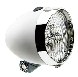 Lampa przednia retro 3 diody led ,160302 zasilane 3x aaa biała