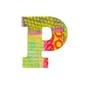 Drewniana literka z serii paw - p