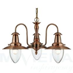 Fisherman lampa wisząca 3 miedziany