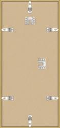 Złota rama aluminiowa 22,7x50 cm