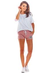 Różowe krótkie dresowe szorty