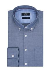Elegancka niebieska koszula męska profuomo z kontrastowymi wstawkami 42