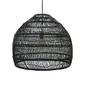 Hk living :: lampa wisząca wiklinowa czarna ø60cm