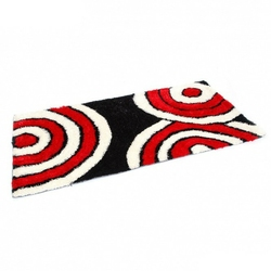Dywan shaggy wzorzysty czarno-biało-czerwony  80 x 150 cm