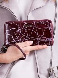 Skórzany portfel damski fioletowy lorenti 76119 - fioletowy