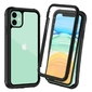 Etui alogy pancerne rugged full-body do apple iphone 11 szaro-czarne