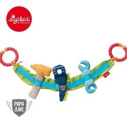 Sigikid miękki łańcuch do wózka narzędzia z grzechotką i szeleszczącą folią papame