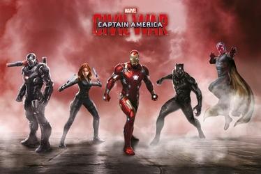 Kapitan Ameryka Civil War Drużyna Iron Man - plakat
