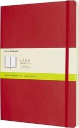Notes moleskine w miękkiej oprawie xl czerwony gładki