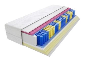 Materac kieszeniowy zefir molet 140x175 cm miękki  średnio twardy 2x visco memory