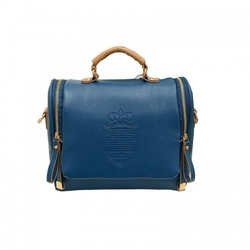 Torebka damska typu listonoszka  kuferek niebieska