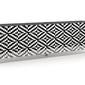 Nowoczesna komoda calisia biało-czarna z motywem geometrycznym  szer. 240 cm