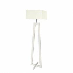 Lampa podłogowa jawa abażur ecru stelaż biały - biały ecru