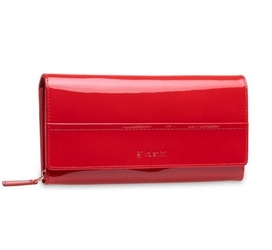 Duży damski portfel valentini like a diamond - czerwony