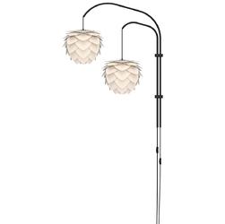 Aluminiowa lampa wisząca mini aluvia umage perłowa biel 02128