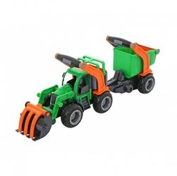 Wader traktor z przyczepą łyżka + wywrotka