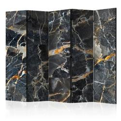 Parawan 5-częściowy - czarny marmur room dividers