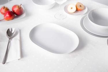 Półmisek  rawier porcelana mariapaula moderna biała 28 cm owalny