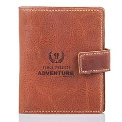 Brązowy skórzany  portfel męski paolo peruzzi