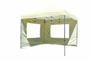 Namiot ogrodowy 3x3 m automatyczny, beżowy pawilon handlowy ze ściankami