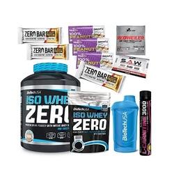 Biotech usa iso whey zero 2270 g + iso whey zero - 500g + 3x baton zero bar - 50g + shaker biotech wave - 600ml + l-carnitine 3000 shot - 25ml + 5 p