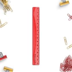 Linijka elastyczna pastelove - kolor czerwony