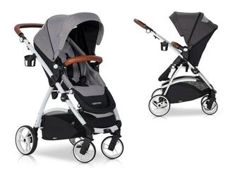 Easygo optimo grey fox wózek do 22 kg z obracanym siedziskiem + torba dla mamy gratis