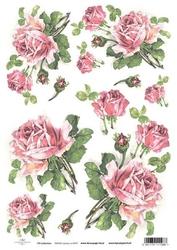 Papier ryżowy ITD A4 R425 róże