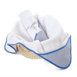 Colorstories - ręcznik bawełniany z kapturem 90×90 cm navy blue m