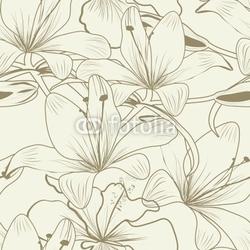 Board z aluminiowym obramowaniem bez szwu tapety z kwiatami lilii