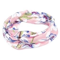 Opaska do włosów szeroka bandamka turban kwiaty