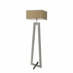 Lampa podłogowa jawa abażur beżowy stelaż popielaty - beżowy
