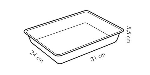 Tescoma blacha do pieczenia głęboka delicia 31x24cm