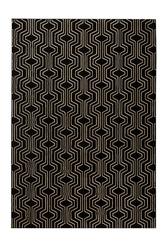 Bold monkey dywan swinging lines 160x230 czarny bm60011