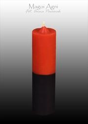 Świeca cofająca czerwono czarna - miłość, związki