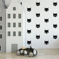 Naklejki ścienne - batman 25szt. w zestawie , kolor - biały, wymiary - szer. 8cm x wys. 8cm