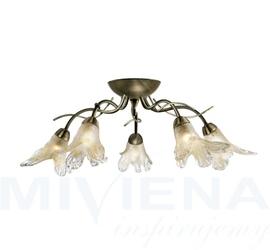 Lily lampa wisząca 5 patyna szkło