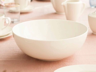 Salaterka  miseczka okrągła porcelana mariapaula nova ecru 25 cm