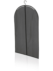 Krótki pokrowiec na ubrania, czarny