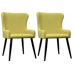 Vidaxl krzesła do jadalni, 2 szt., zielone, tapicerowane tkaniną