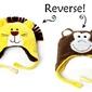 Dwustronna czapka zimowa flapjack 6m-3l - lew  małpka