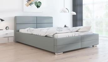 Łóżko tapicerowane do sypialni gianna  z pojemnikiem na pościel