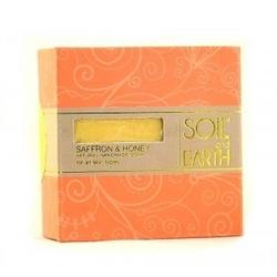 Naturalne mydło szafran i miód 100g soilearth - uelastycznia i odmładza