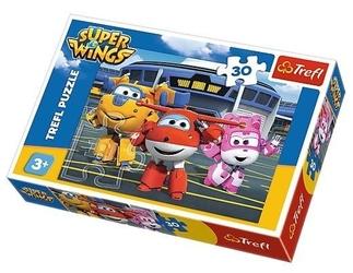 Puzzle przyjaciele przed hangarem super wings 30el 18226 trefl