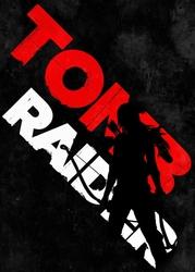 Typography stencils - tomb raider - plakat wymiar do wyboru: 30x40 cm