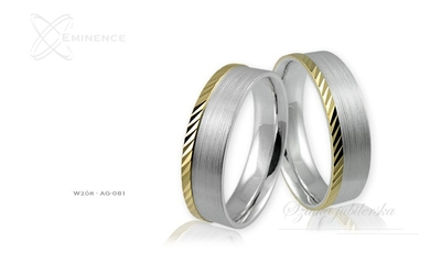 Obrączki srebrne - wzór ag-081