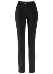 Spodnie z bengaliny z regulowanym paskiem w talii,  slim fit bonprix czarny