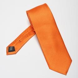 Pomarańczowy krawat jedwabny 6,5cm